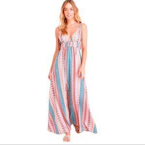 Lulu's Maxin Relaxin Multi Print Maxi Dress